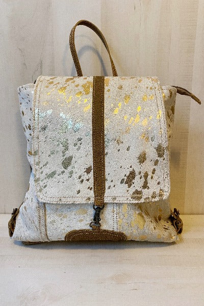 Silvery Touch Leather and Harion Bag