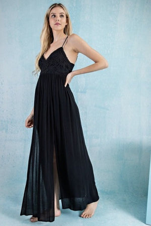 Bohemian Back Tie Maxi Dress