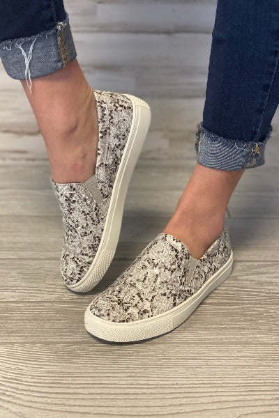Python Slip-On Sneakers