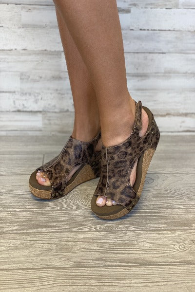 Carley Distressed Wedge Sandals