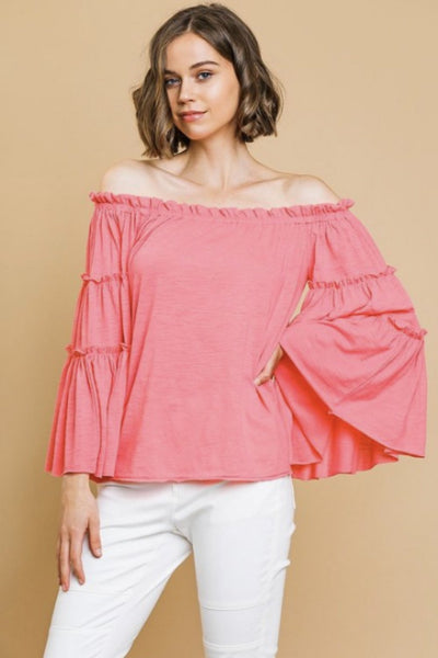 Layered Bell Sleeve Off Shoulder Top - Free Souls Boutique