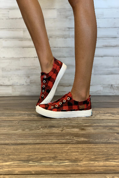 Play Buffalo Check Sneakers - Free Souls Boutique