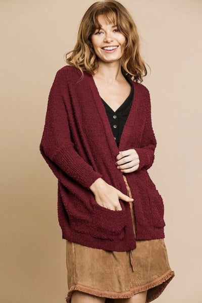 Ribbed Cuff Front Pocket Cardigan - Free Souls Boutique