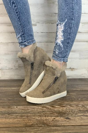 Later Days High Top Sneaker Wedge - Free Souls Boutique