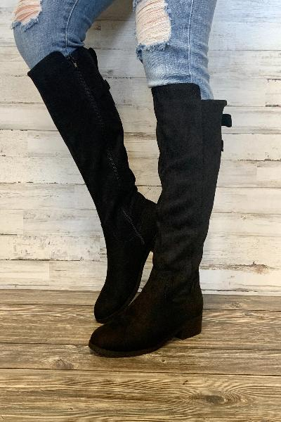 Balloon Suede Tall Boots - Free Souls Boutique