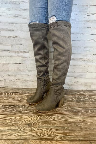 Mention Stitched Tall Boots - Free Souls Boutique