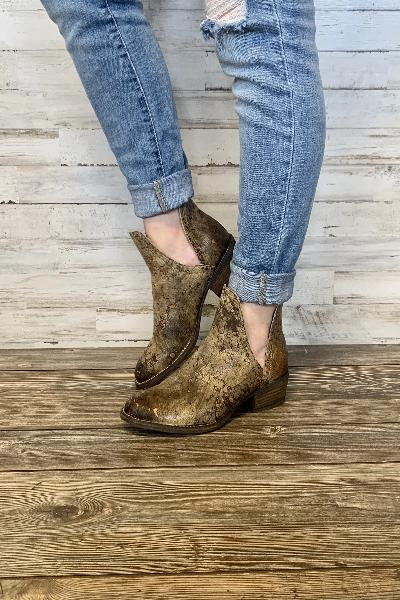 Depo Distressed Booties - Free Souls Boutique