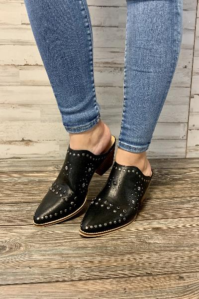 Kat Studed Mules - Free Souls Boutique