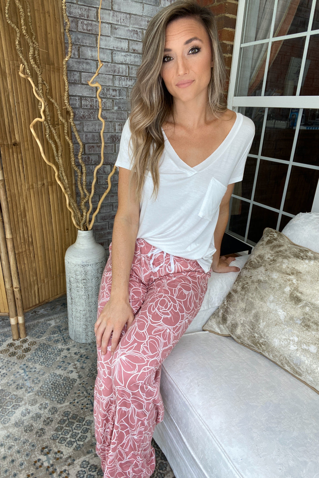 Sweet Escape Lounge Pants- Breakfast In Bed