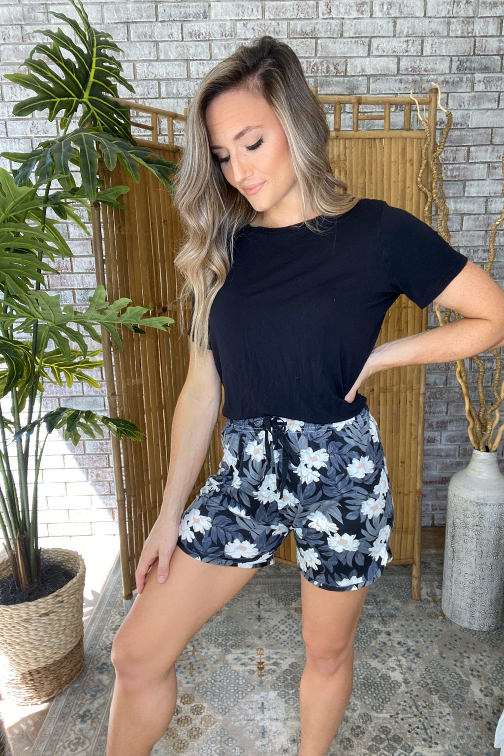 Sweet Escape Lounge Shorts- Staycation