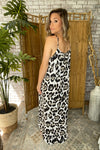 Sleeveless Leopard Maxi Dress