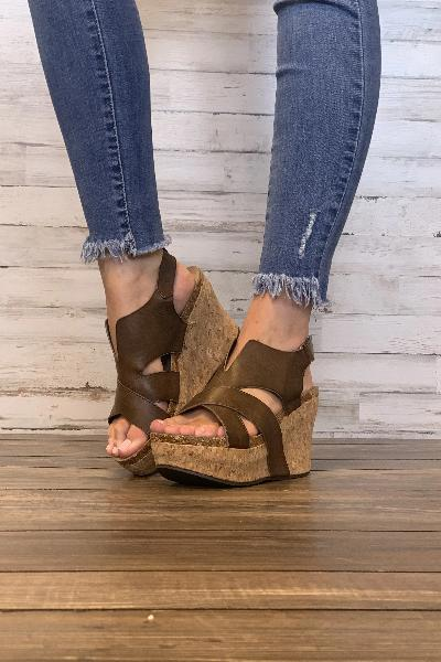 Hester-21 Wedges - Free Souls Boutique