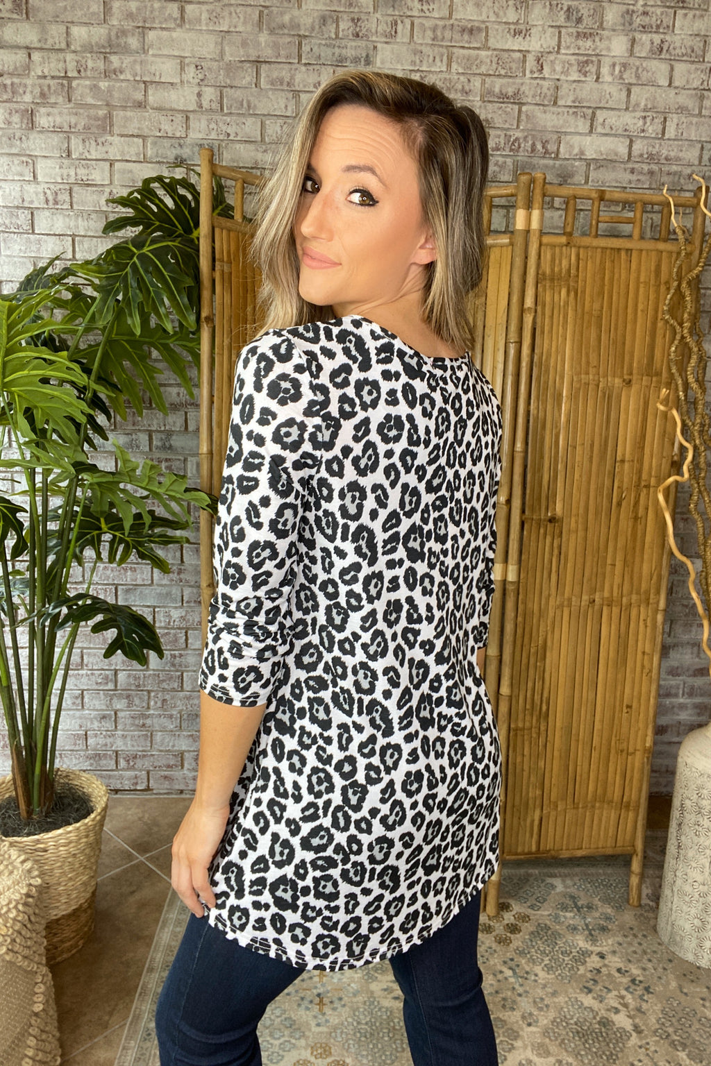 Leopard Print Tunic Top
