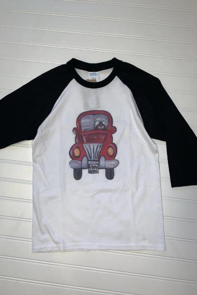 Youth Athens Mascot Truck Raglan Graphic Tee - Free Souls Boutique