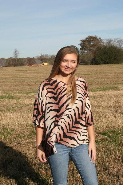 Tiger V-Neck Blouse Top - Free Souls Boutique