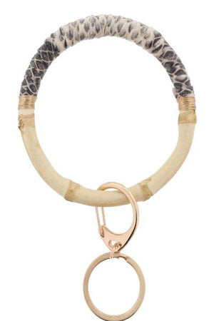 JM Journey Bamboo Bangle Bracelet Snake Print Keychain - Free Souls Boutique