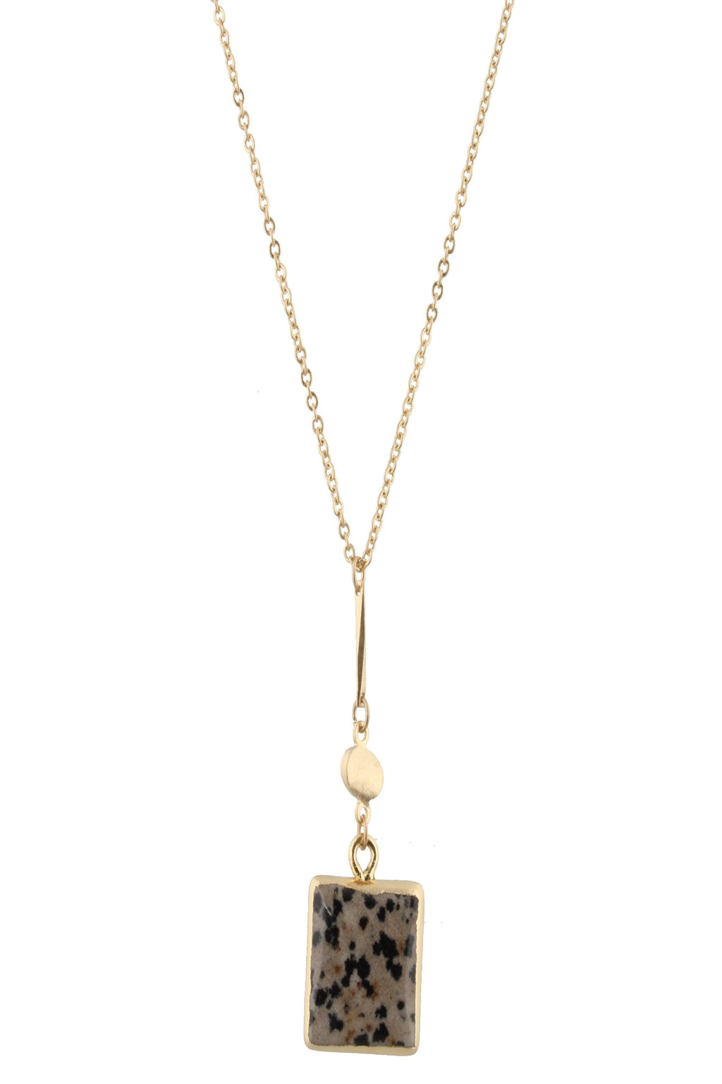 JM Sayler Dalmation Square Pendant Necklace - Free Souls Boutique
