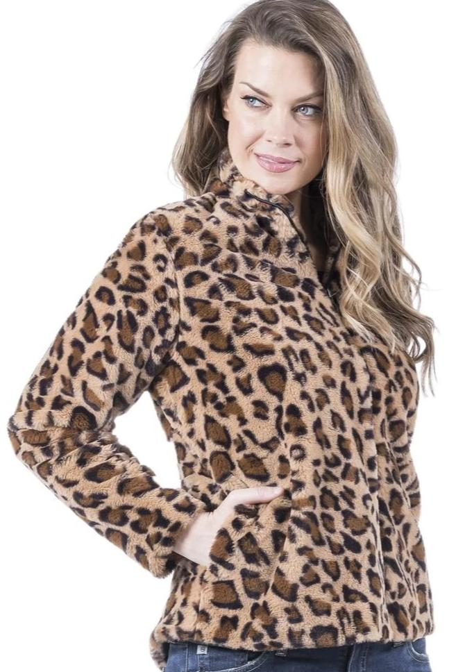 Leopard Pocket Jacket - Free Souls Boutique