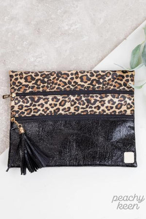 Leopard & Luxe Double Zipper Versi Bag - Free Souls Boutique