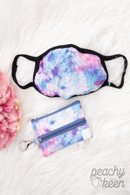 Sweetheart Wishes Tie Dye Face Mask With Versi Bag