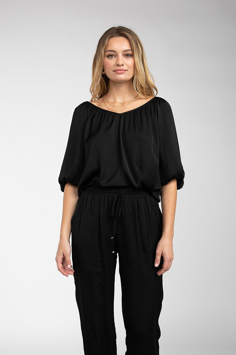 Half Balloon Sleeve Blouse