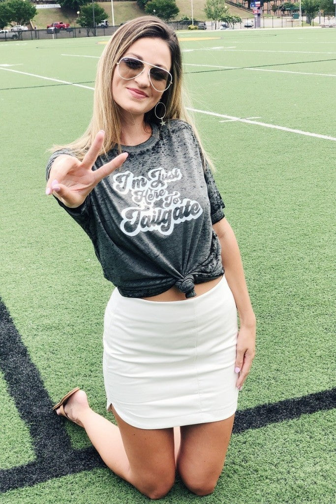 Here To Tailgate Graphic Tee - Free Souls Boutique