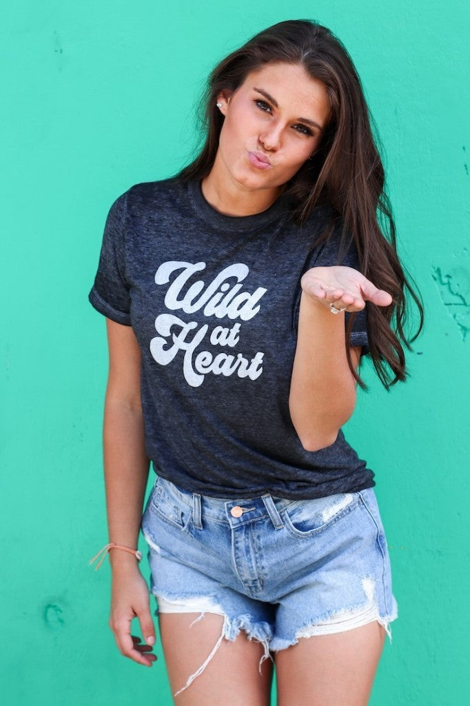 Wild At Heart Graphic Tee - Free Souls Boutique