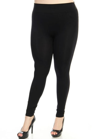 Plus Black Leggings - Free Souls Boutique