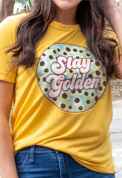 Stay Golden Patch Tee - Free Souls Boutique