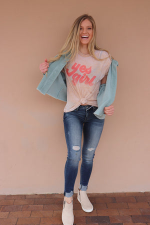 Yes Girl Graphic Tee - Free Souls Boutique