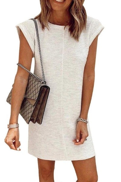 Crew Neck Cotton Dress