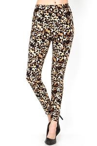 Plus Leopard Print Brushed Leggings