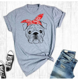 Bulldog Bandana Graphic Tee - Free Souls Boutique