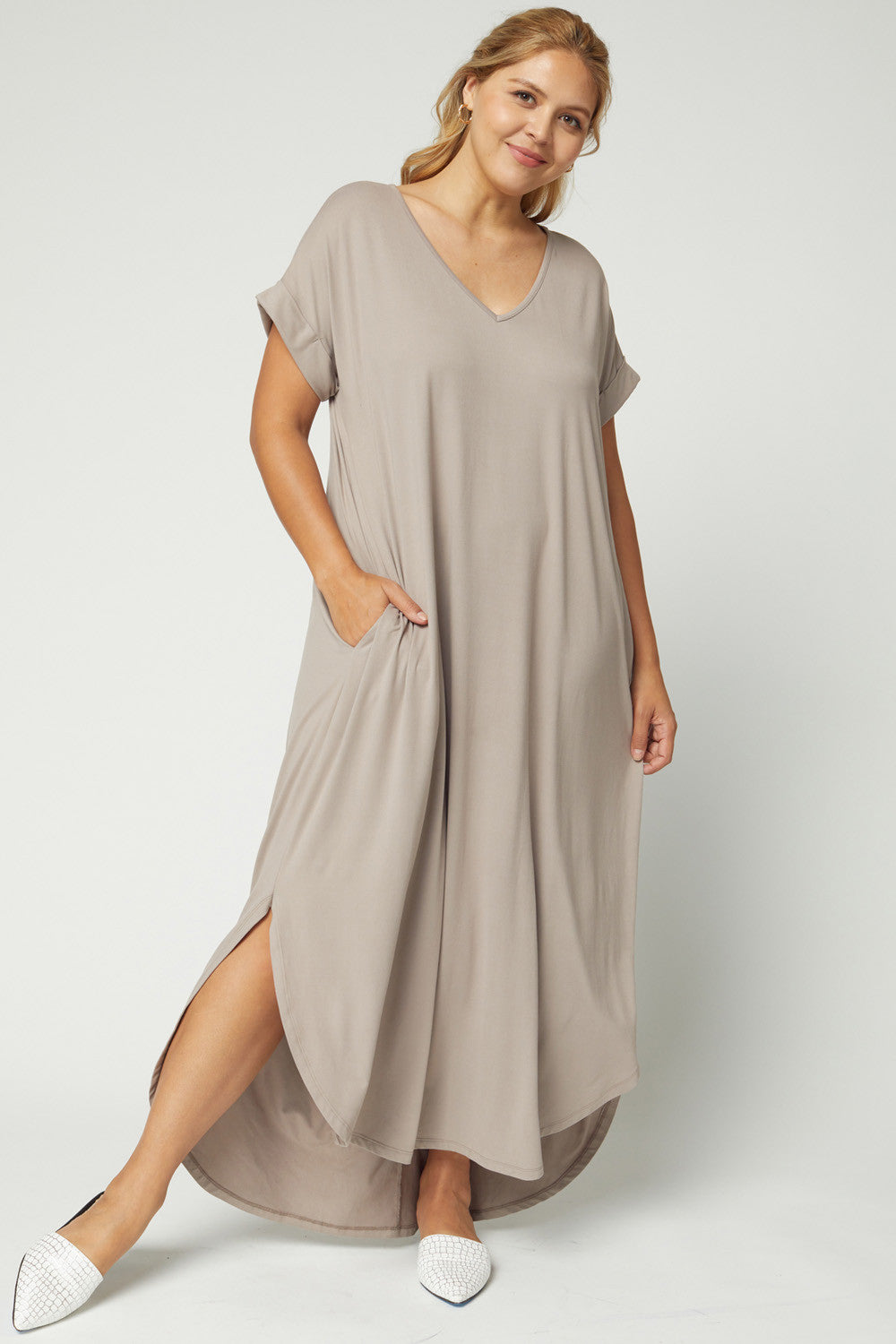 Plus TShirt Maxi Dress