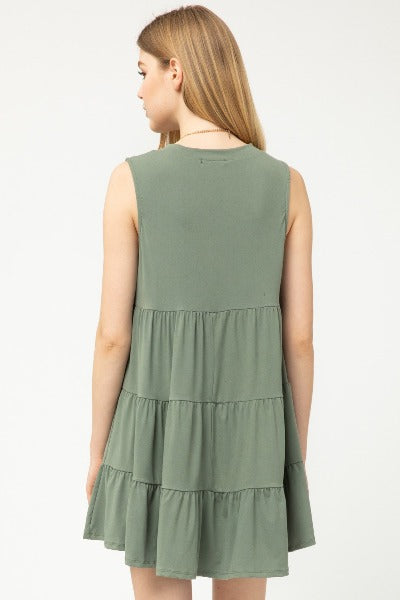 Sleeveless Knit Tier Dress