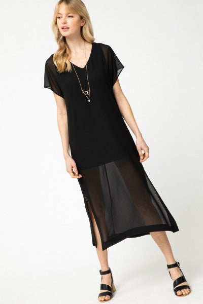 Semi Sheer Midi Dress