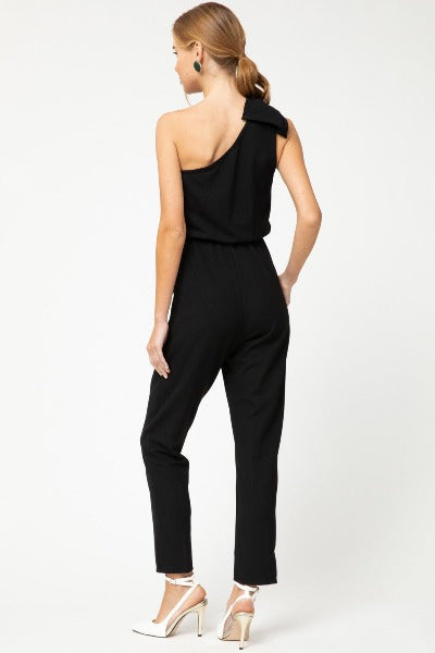 Bow Shoulder Jumpsuit