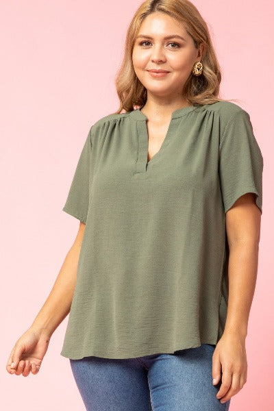Plus Tab Collar SS Top