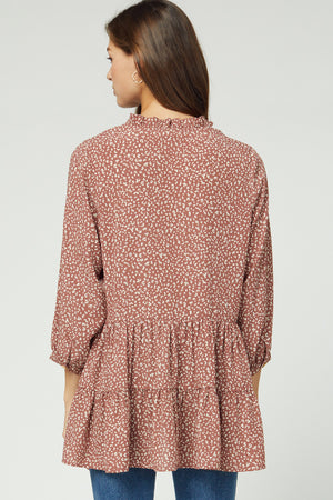 Tiered Print Button Top