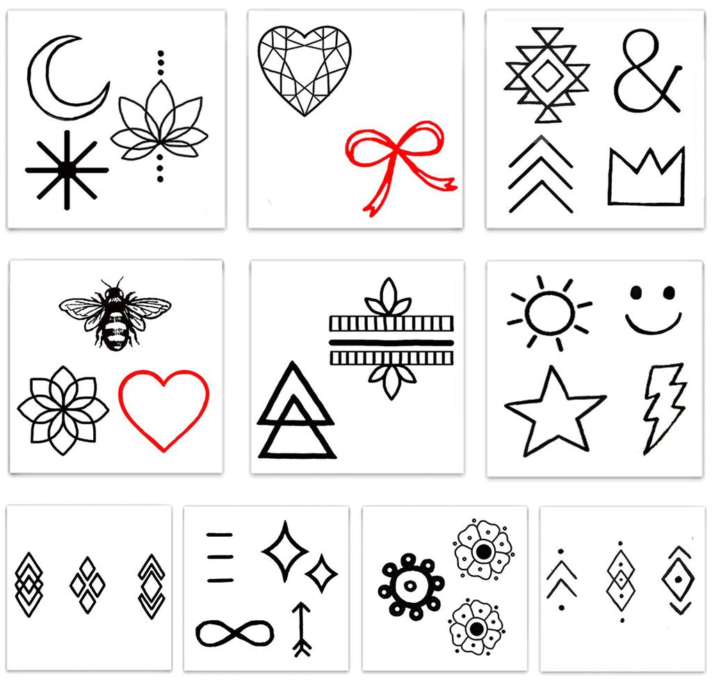 Inked Temporary Tattoos - Finger Tats - Free Souls Boutique