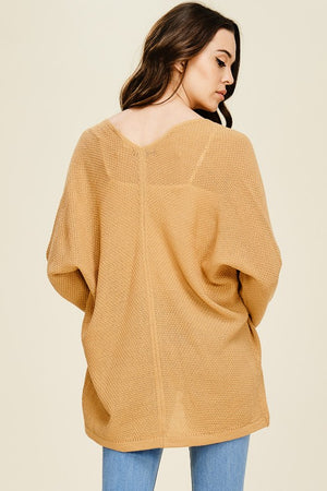 Dolman Sleeve Open Front Cadigan - Free Souls Boutique