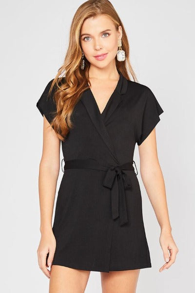 Collar Wrap Romper