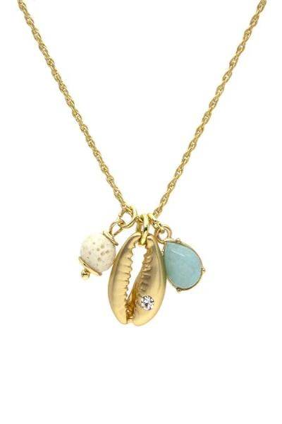 Gold Shell Charm Necklace - Free Souls Boutique