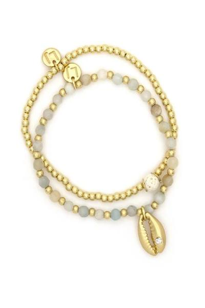 Gold Shell Beaded Bracelet - Free Souls Boutique