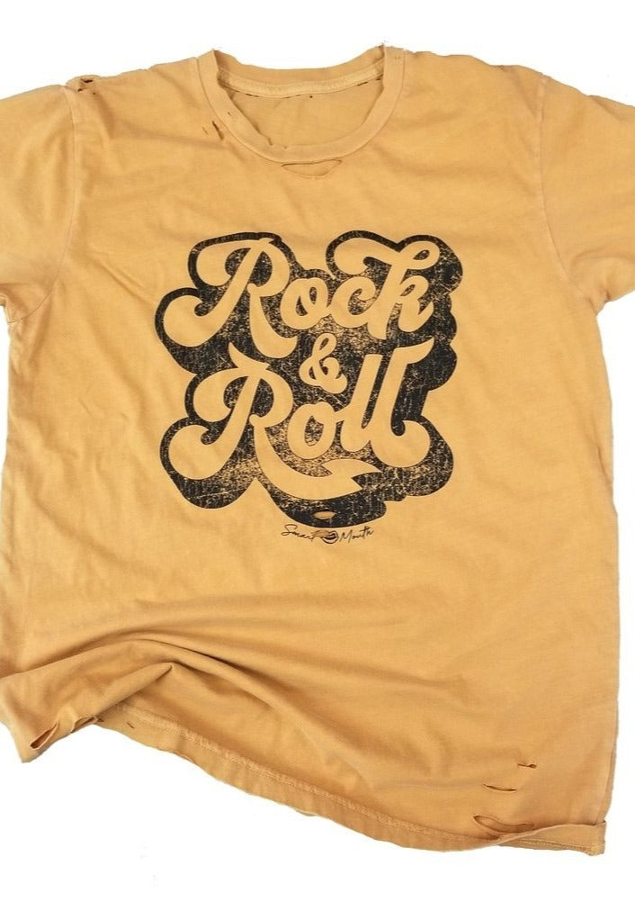 Destroyed Rock & Roll Graphic Tee