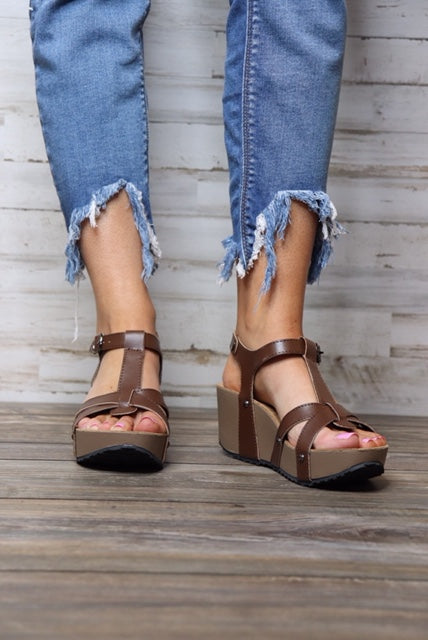 Patti Wedge Sandals - Free Souls Boutique