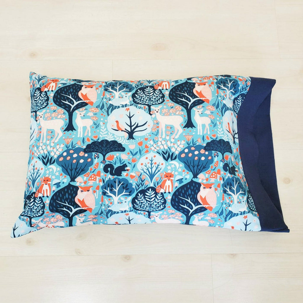 Woodland Print Organic Pillowcases in a Variety of Sizes and Options