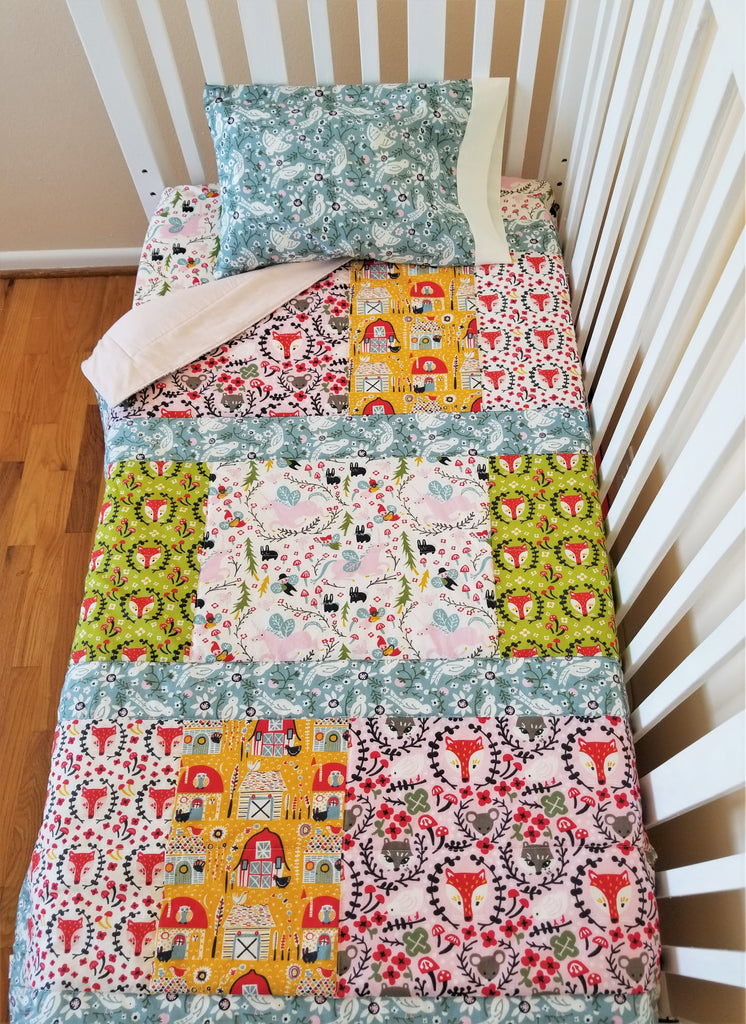 Organic Cotton Baby & Toddler Quilt with Unicorns, Foxes & More