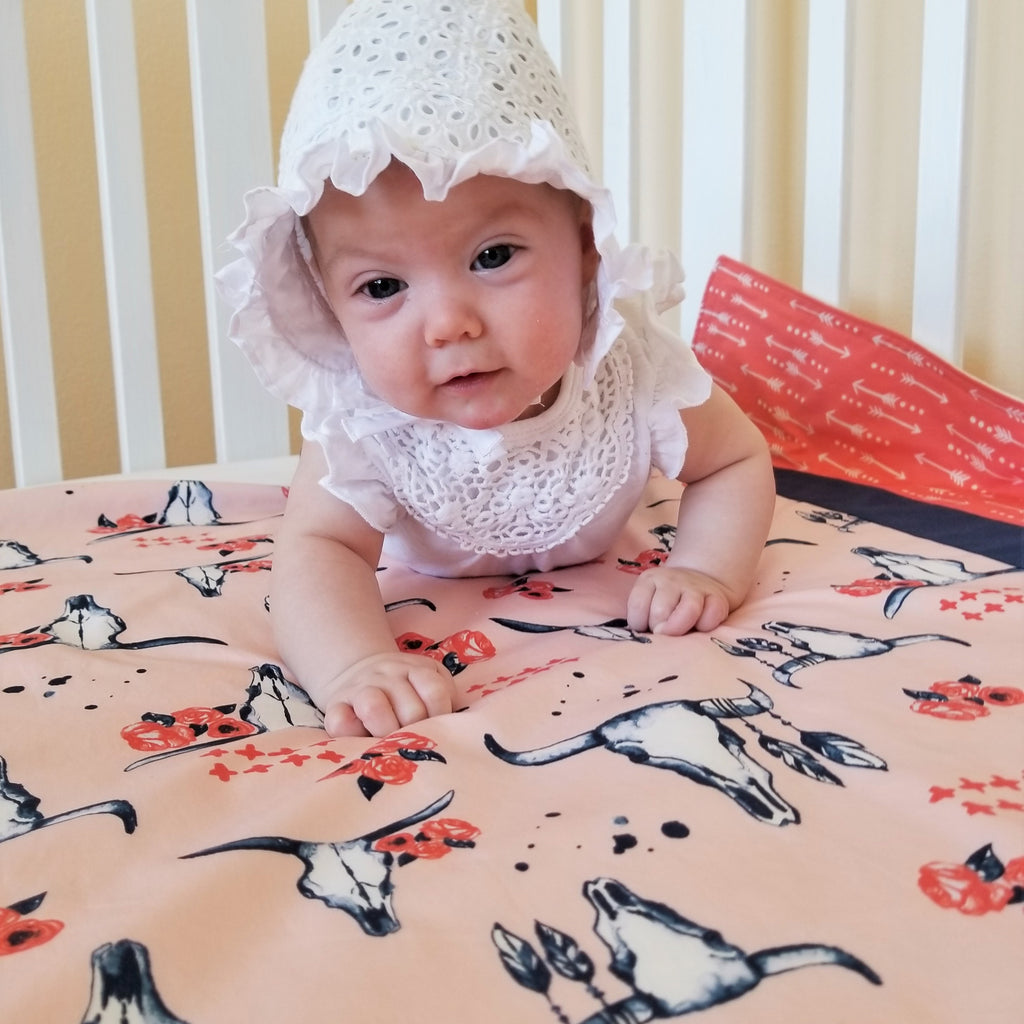 Organic Cotton Baby & Toddler Blankets with Skulls & Roses