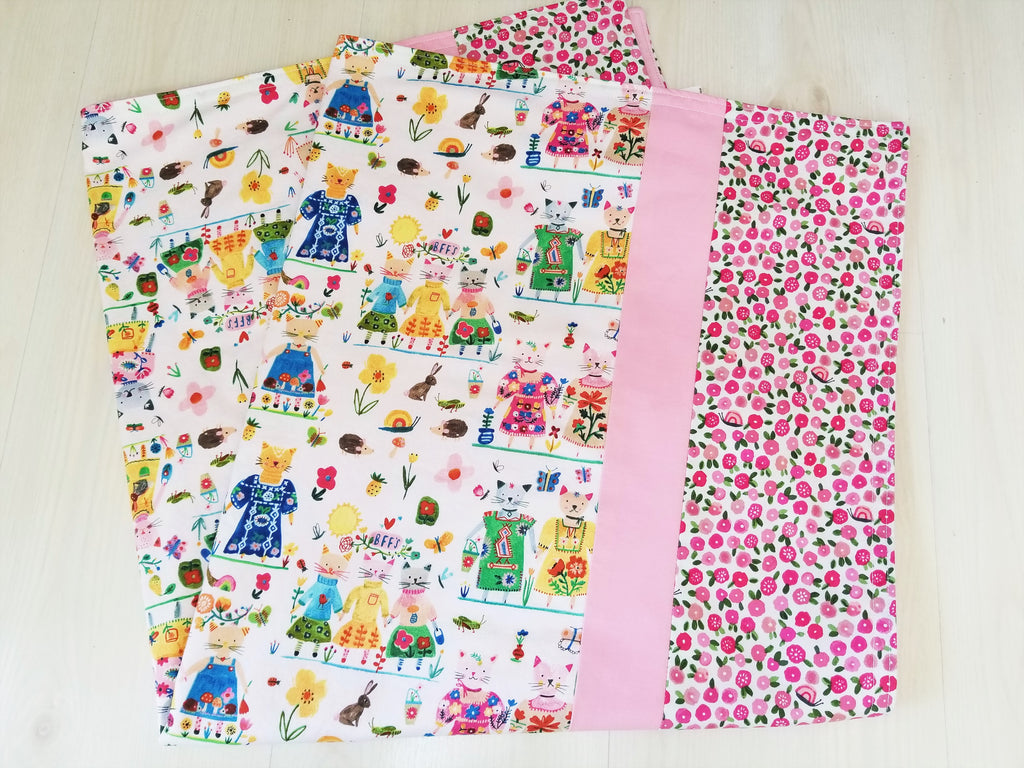 Organic Cotton Baby and Toddler Blankets with BFF Cats